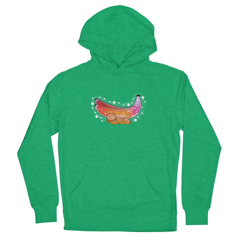 Banana Men's French Terry Pullover Hoody by the lady ernest ember's Artist Shop
