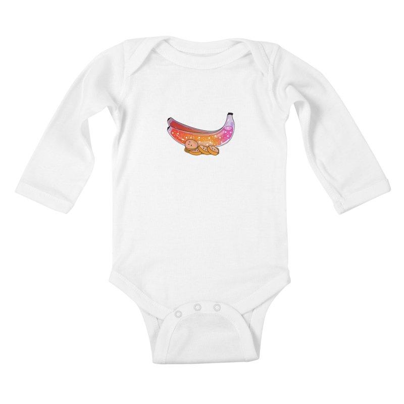 Banana Kids Baby Longsleeve Bodysuit by theladyernestember's Artist Shop