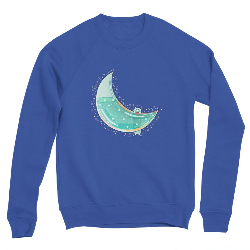 Cat Moon Men's Sweatshirt by theladyernestember's Artist Shop