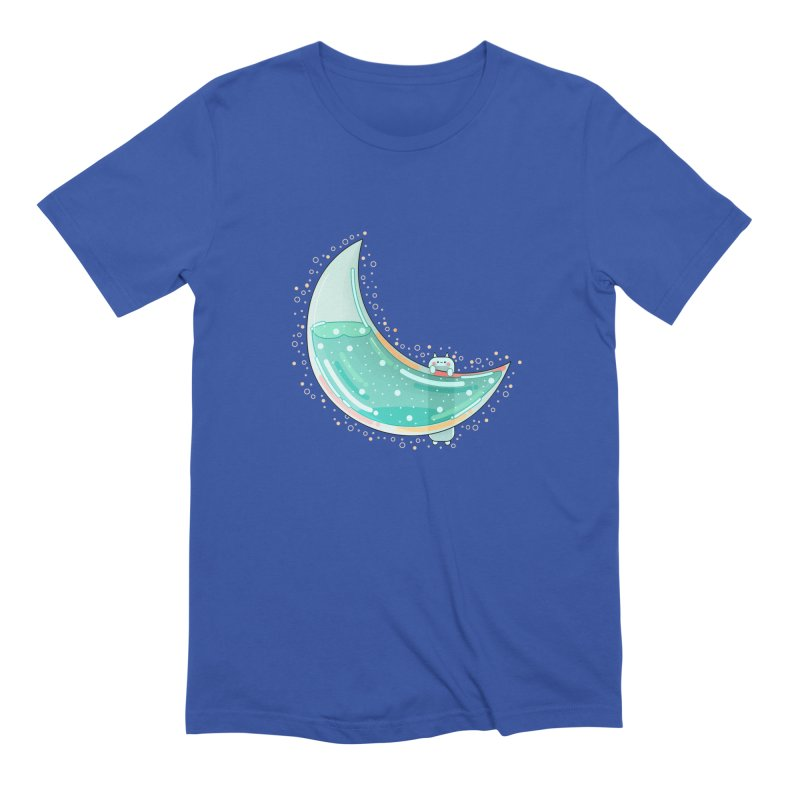 Cat Moon Men's T-Shirt by theladyernestember's Artist Shop