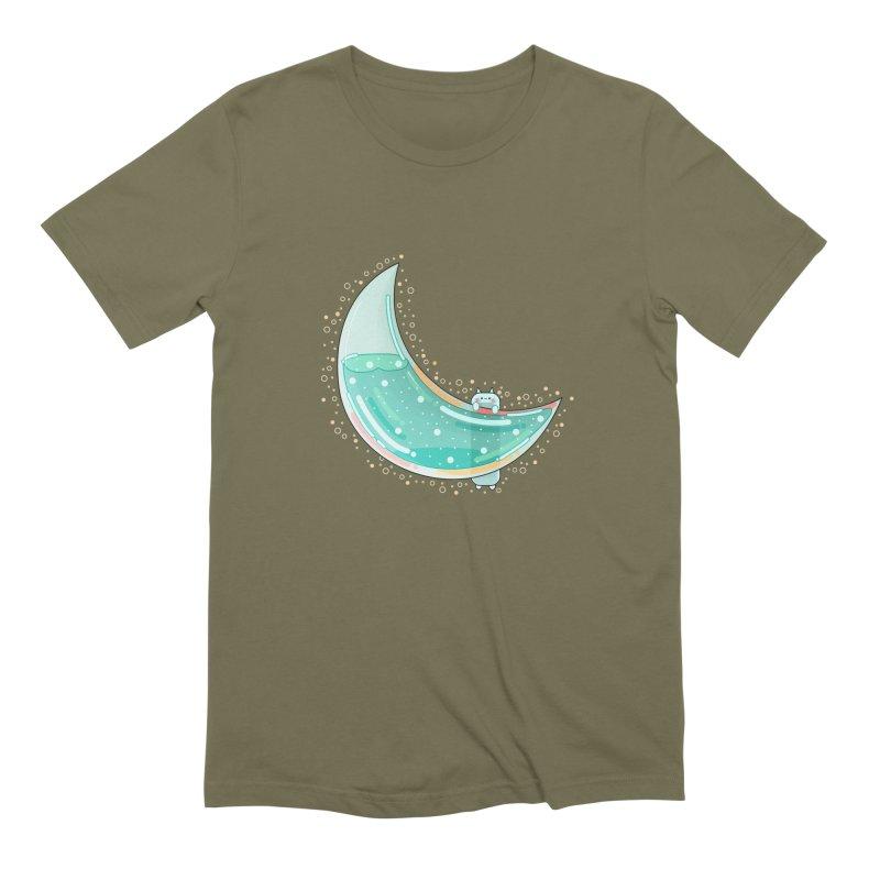 Cat Moon Men's T-Shirt by theladyernestember's Artist Shop