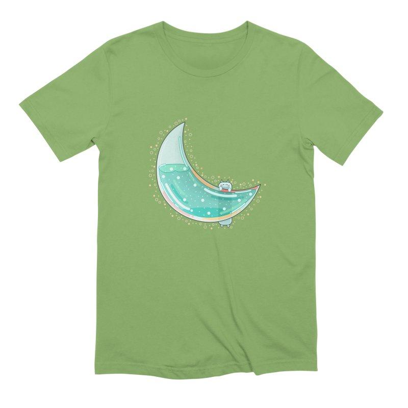 Cat Moon Men's Extra Soft T-Shirt by theladyernestember's Artist Shop