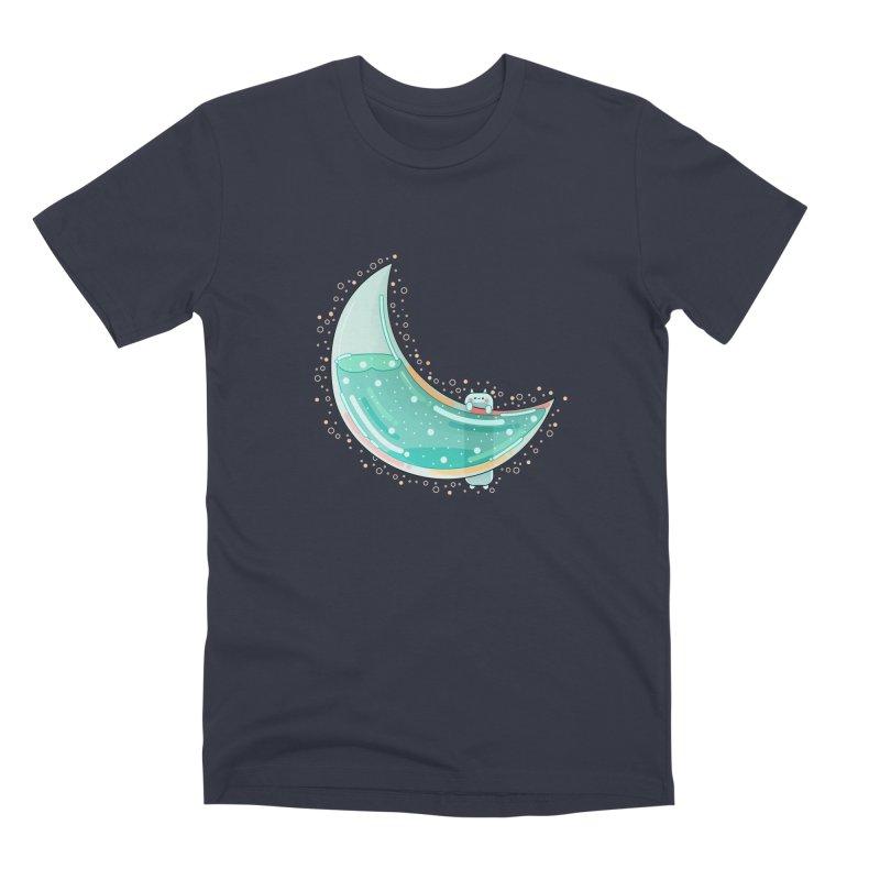Cat Moon Men's Premium T-Shirt by the lady ernest ember's Artist Shop