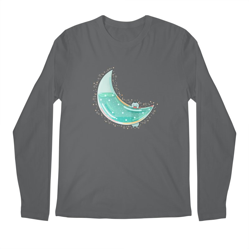 Cat Moon Men's Longsleeve T-Shirt by theladyernestember's Artist Shop