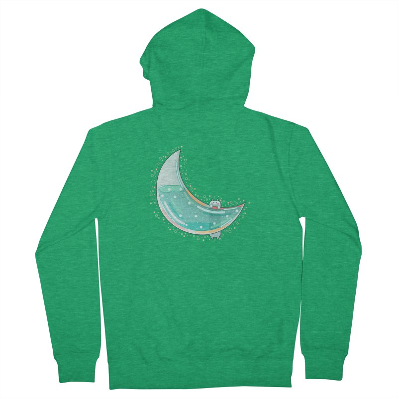 Cat Moon Men's French Terry Zip-Up Hoody by theladyernestember's Artist Shop