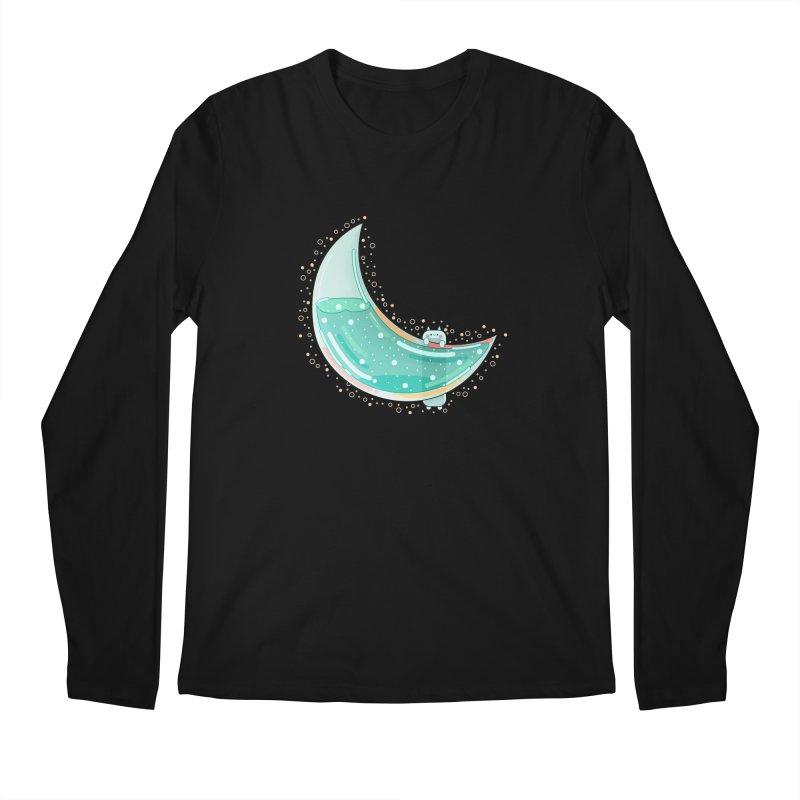 Cat Moon Men's Regular Longsleeve T-Shirt by the lady ernest ember's Artist Shop