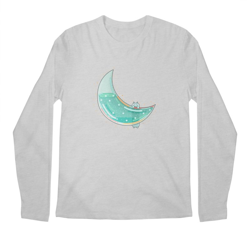 Cat Moon Men's Regular Longsleeve T-Shirt by theladyernestember's Artist Shop