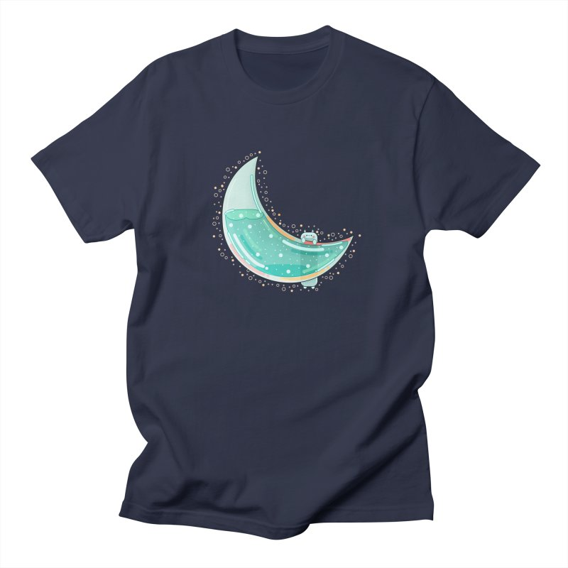 Cat Moon Men's Regular T-Shirt by the lady ernest ember's Artist Shop