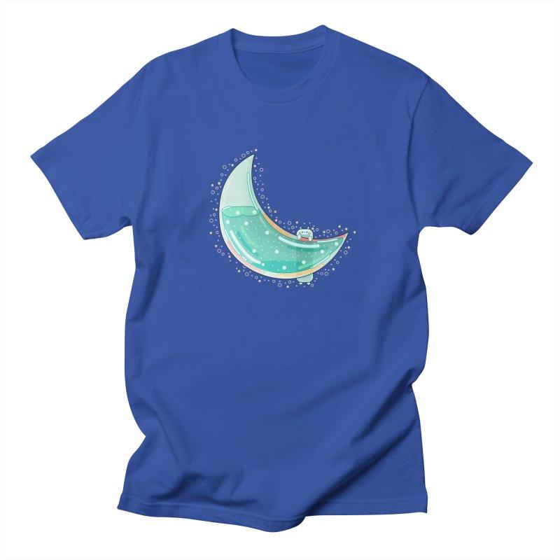 Cat Moon Men's Regular T-Shirt by theladyernestember's Artist Shop