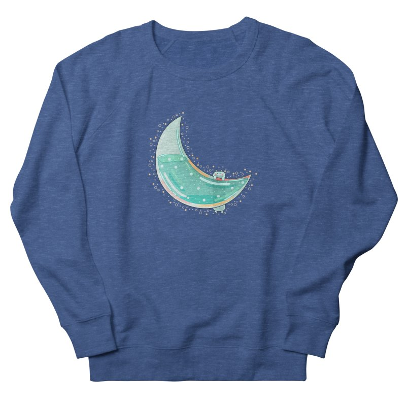 Cat Moon Women's French Terry Sweatshirt by the lady ernest ember's Artist Shop