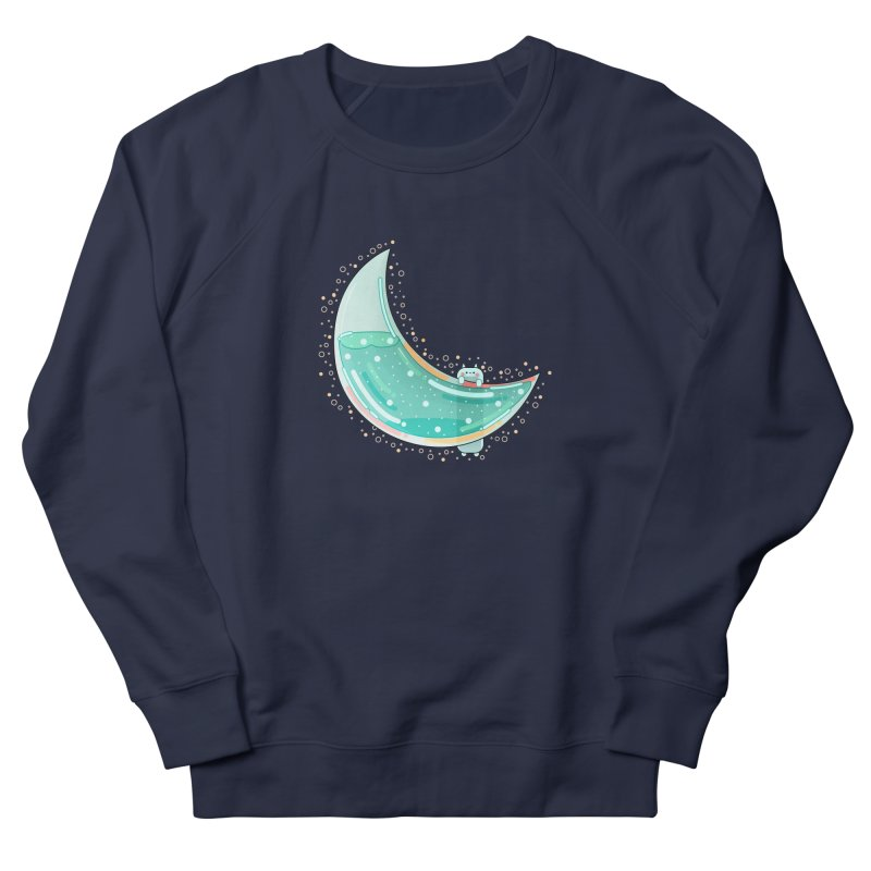 Cat Moon Men's French Terry Sweatshirt by the lady ernest ember's Artist Shop