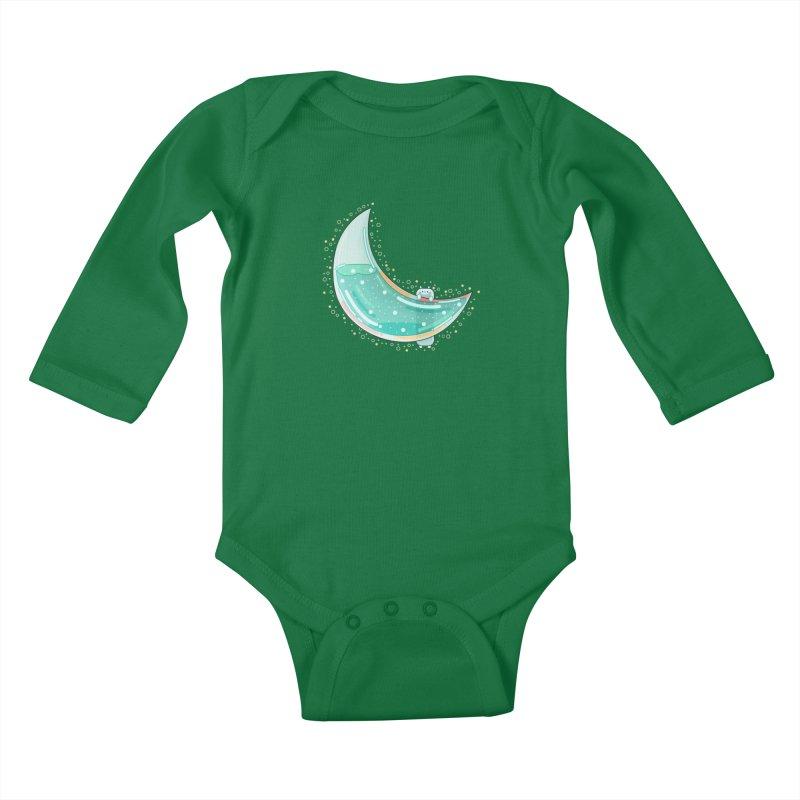 Cat Moon Kids Baby Longsleeve Bodysuit by theladyernestember's Artist Shop