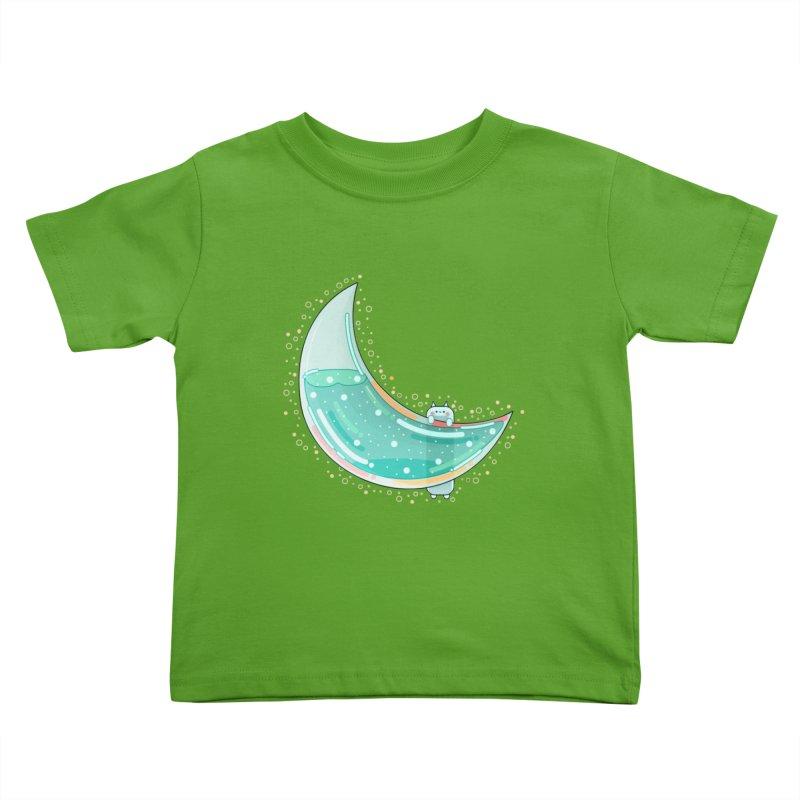 Cat Moon Kids Toddler T-Shirt by theladyernestember's Artist Shop