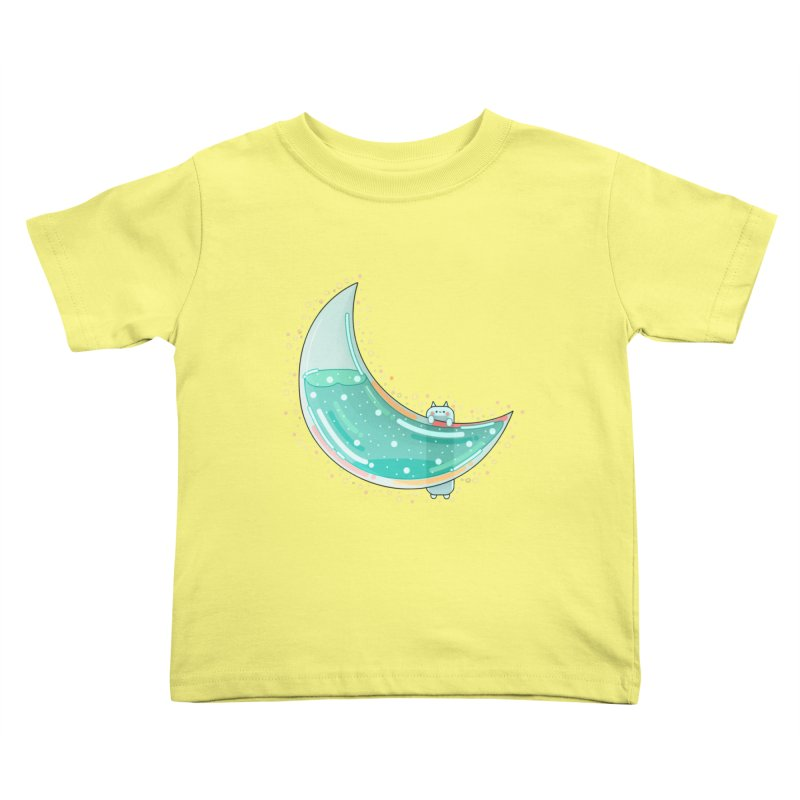 Cat Moon Kids Toddler T-Shirt by the lady ernest ember's Artist Shop