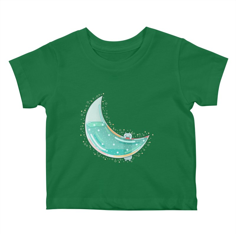 Cat Moon Kids Baby T-Shirt by theladyernestember's Artist Shop