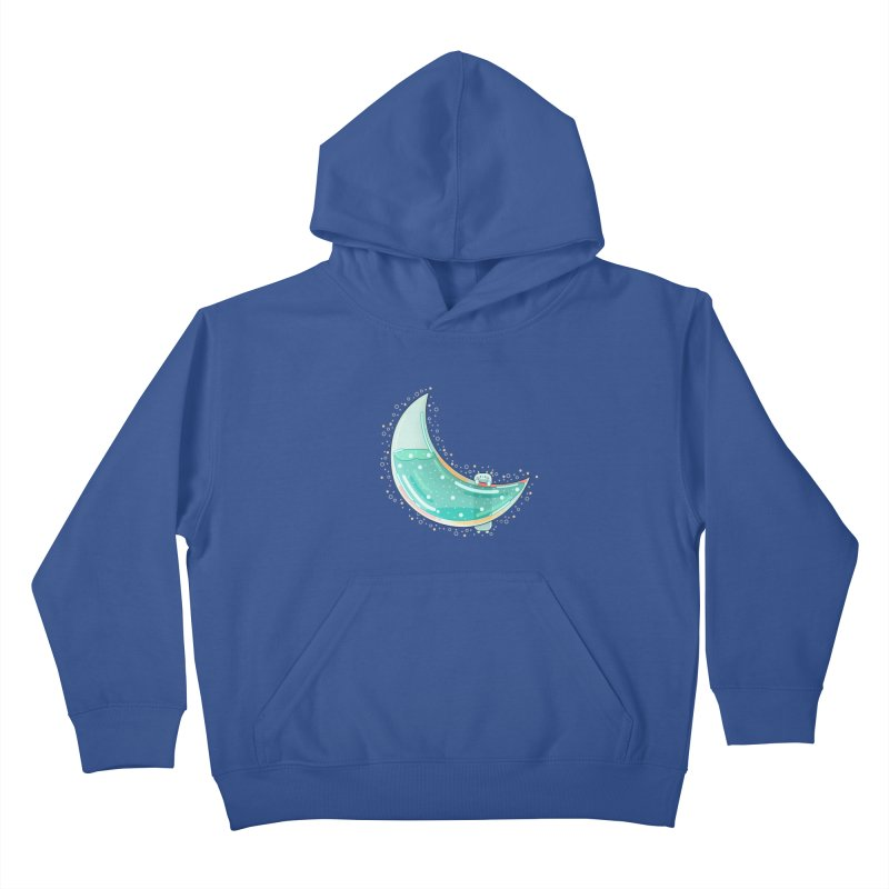 Cat Moon Kids Pullover Hoody by the lady ernest ember's Artist Shop