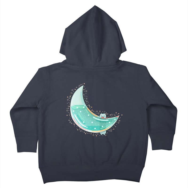 Cat Moon Kids Toddler Zip-Up Hoody by the lady ernest ember's Artist Shop