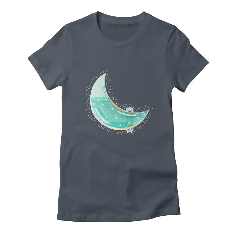 Cat Moon Women's T-Shirt by theladyernestember's Artist Shop