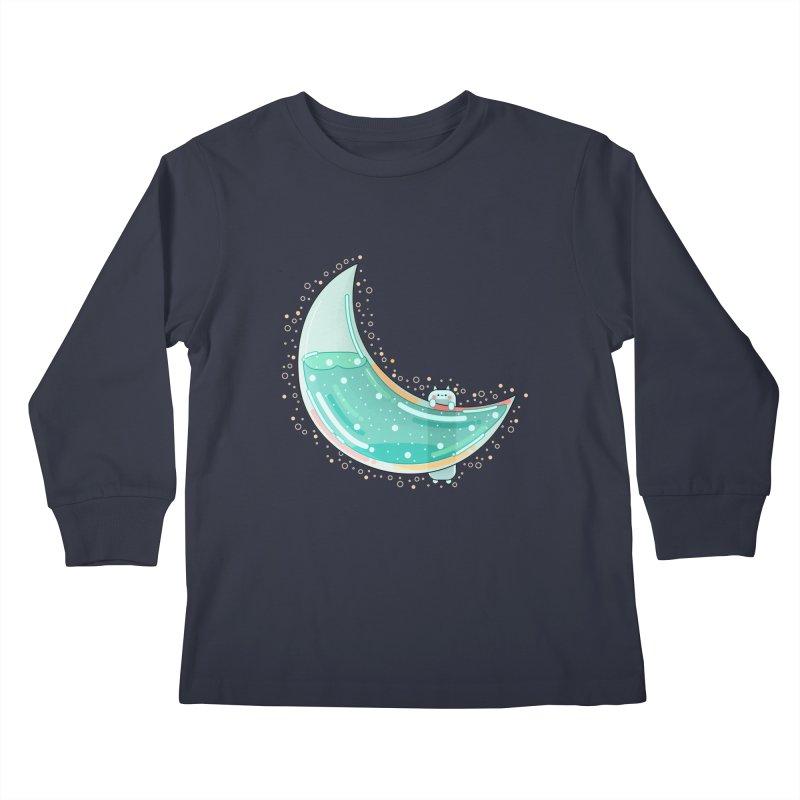 Cat Moon Kids Longsleeve T-Shirt by theladyernestember's Artist Shop