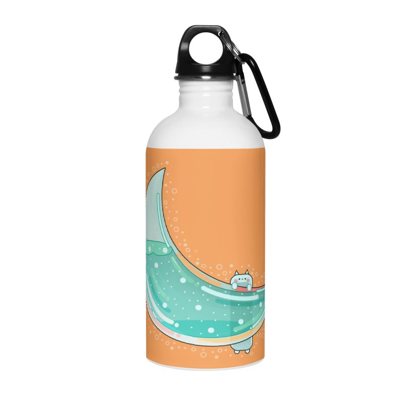 Cat Moon Accessories Water Bottle by theladyernestember's Artist Shop