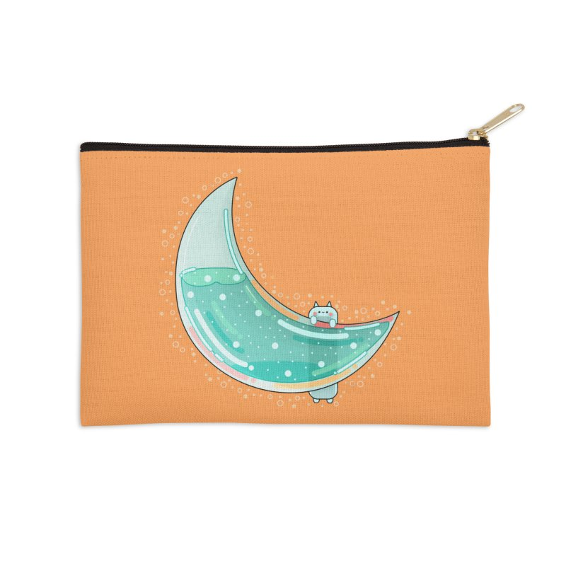 Cat Moon Accessories Zip Pouch by theladyernestember's Artist Shop
