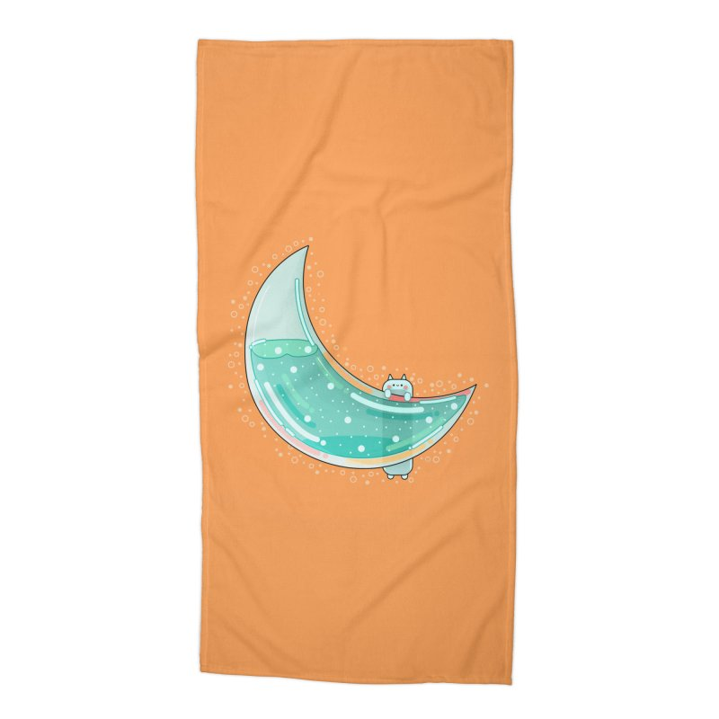 Cat Moon Accessories Beach Towel by theladyernestember's Artist Shop