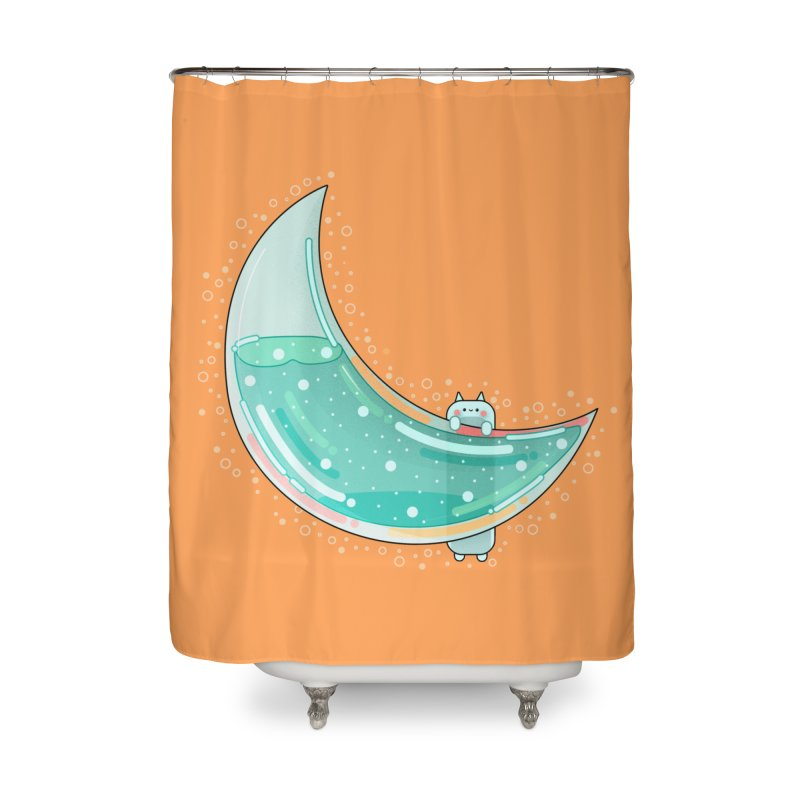 Cat Moon Home Shower Curtain by theladyernestember's Artist Shop