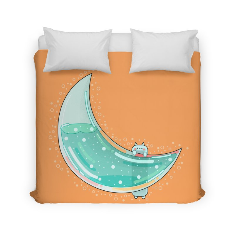 Cat Moon Home Duvet by the lady ernest ember's Artist Shop