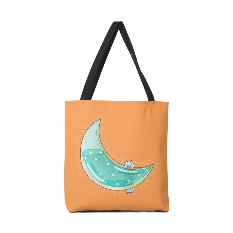 Cat Moon Accessories Tote Bag Bag by the lady ernest ember's Artist Shop