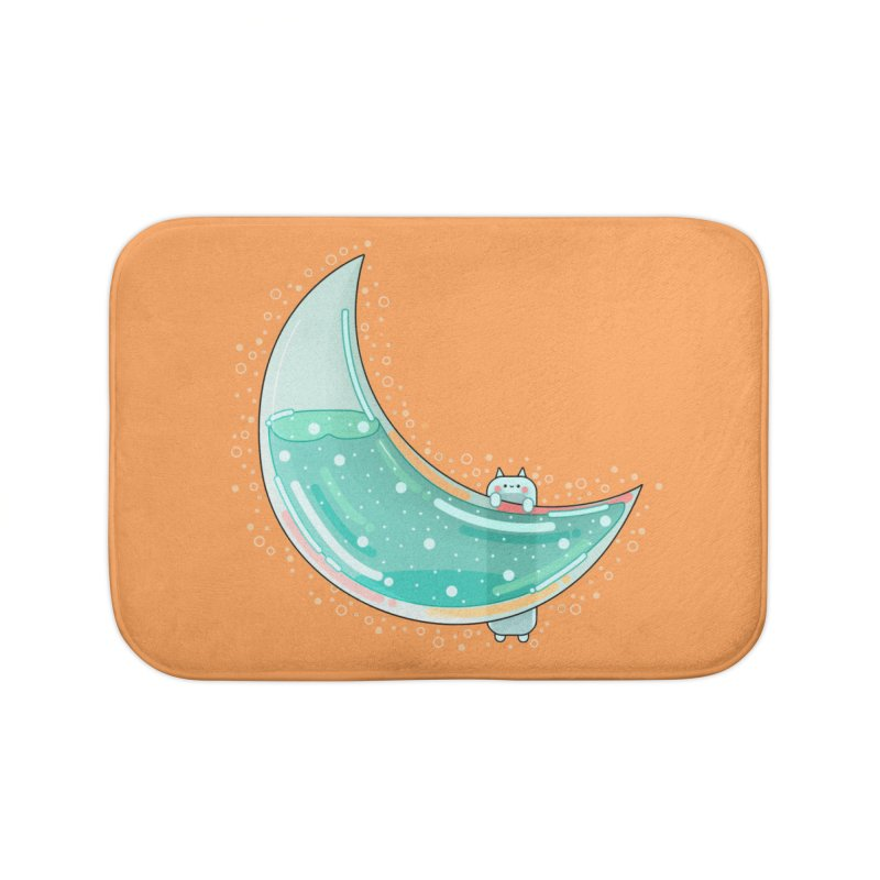Cat Moon Home Bath Mat by theladyernestember's Artist Shop