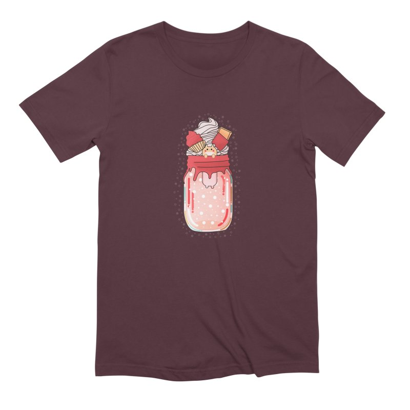 Cat dessert Men's Extra Soft T-Shirt by theladyernestember's Artist Shop