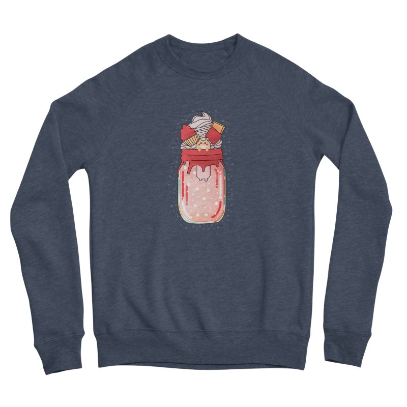 Cat dessert Women's Sponge Fleece Sweatshirt by theladyernestember's Artist Shop