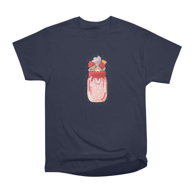 Cat dessert Women's Heavyweight Unisex T-Shirt by the lady ernest ember's Artist Shop