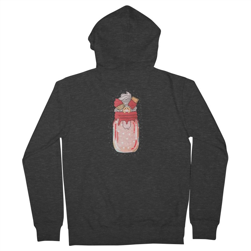 Cat dessert Men's French Terry Zip-Up Hoody by the lady ernest ember's Artist Shop