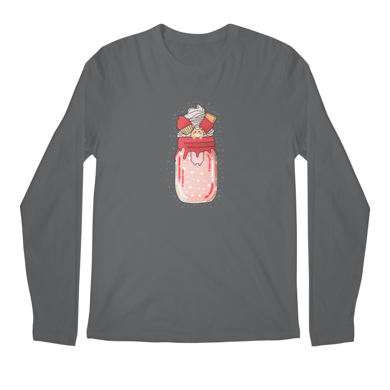 Cat dessert Men's Regular Longsleeve T-Shirt by theladyernestember's Artist Shop