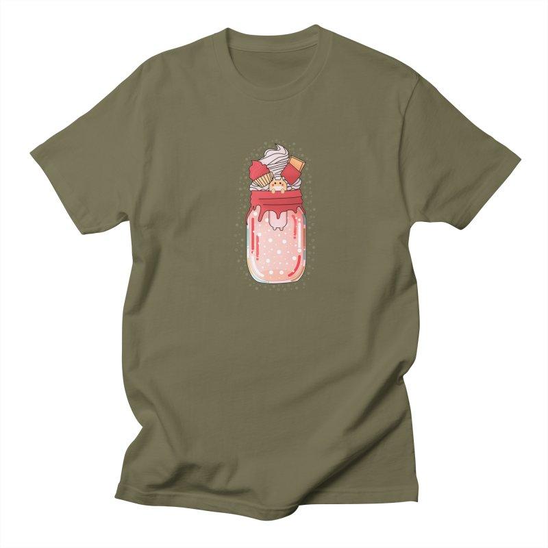 Cat dessert Men's Regular T-Shirt by theladyernestember's Artist Shop