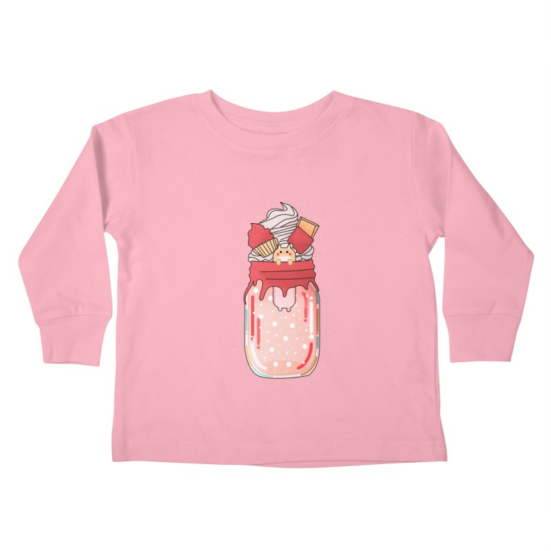 Cat dessert Kids Toddler Longsleeve T-Shirt by theladyernestember's Artist Shop