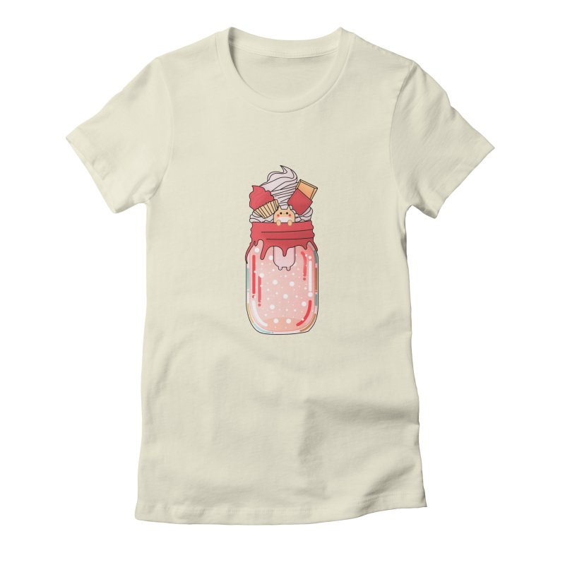 Cat dessert Women's Fitted T-Shirt by the lady ernest ember's Artist Shop