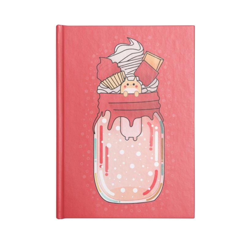 Cat dessert Accessories Lined Journal Notebook by theladyernestember's Artist Shop