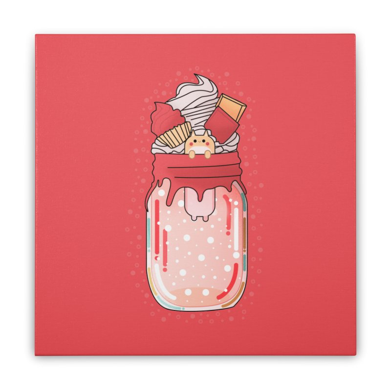Cat dessert Home Stretched Canvas by theladyernestember's Artist Shop