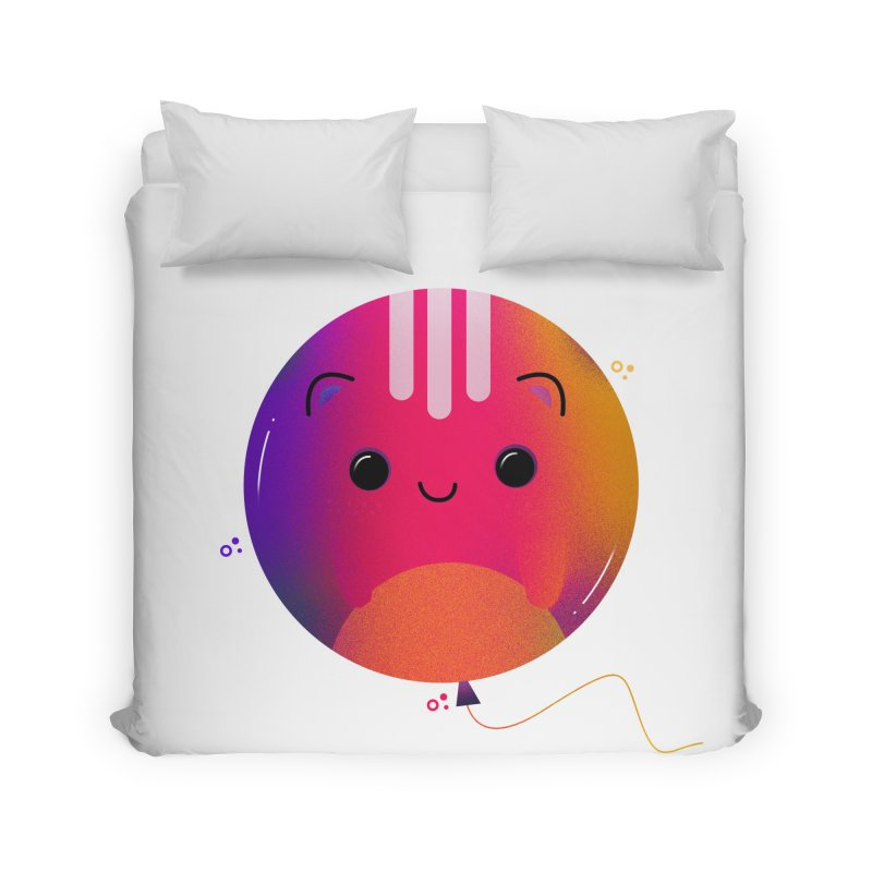 Cat Balloon Home Duvet by the lady ernest ember's Artist Shop