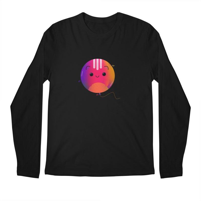 Cat Balloon Men's Regular Longsleeve T-Shirt by the lady ernest ember's Artist Shop