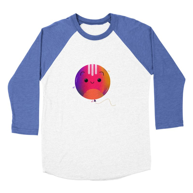 Cat Balloon Men's Baseball Triblend Longsleeve T-Shirt by the lady ernest ember's Artist Shop