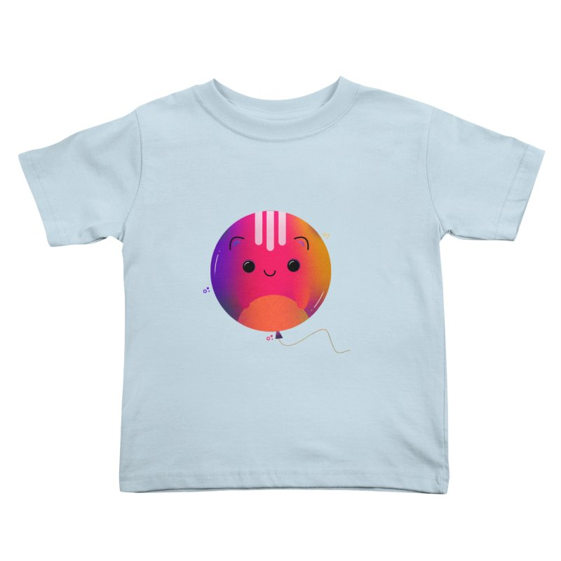 Cat Balloon Kids Toddler T-Shirt by the lady ernest ember's Artist Shop