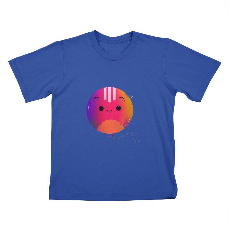 Cat Balloon Kids T-Shirt by theladyernestember's Artist Shop