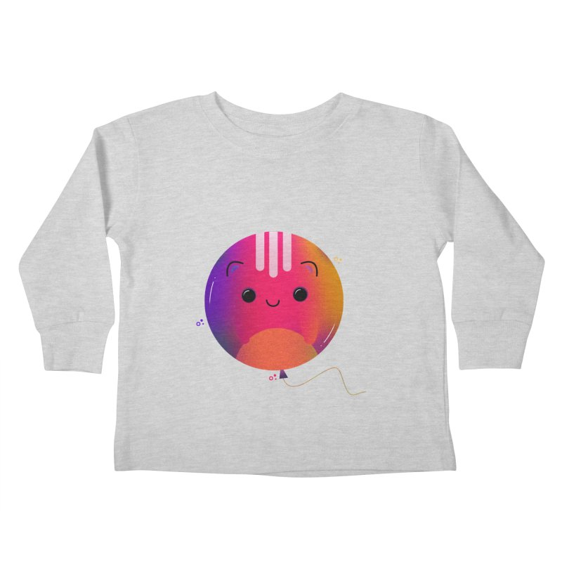 Cat Balloon Kids Toddler Longsleeve T-Shirt by theladyernestember's Artist Shop
