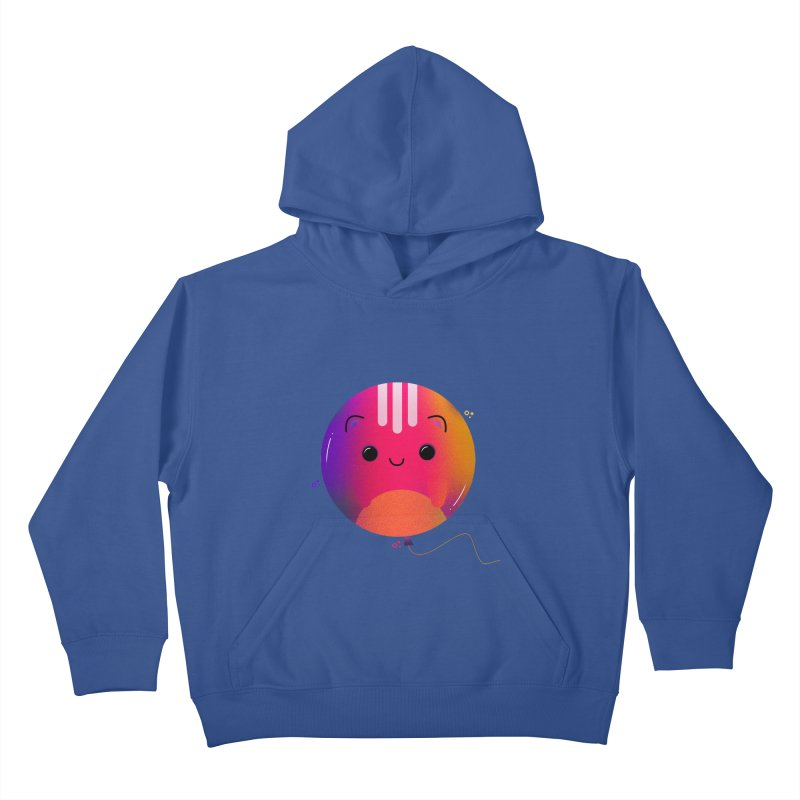 Cat Balloon Kids Pullover Hoody by theladyernestember's Artist Shop