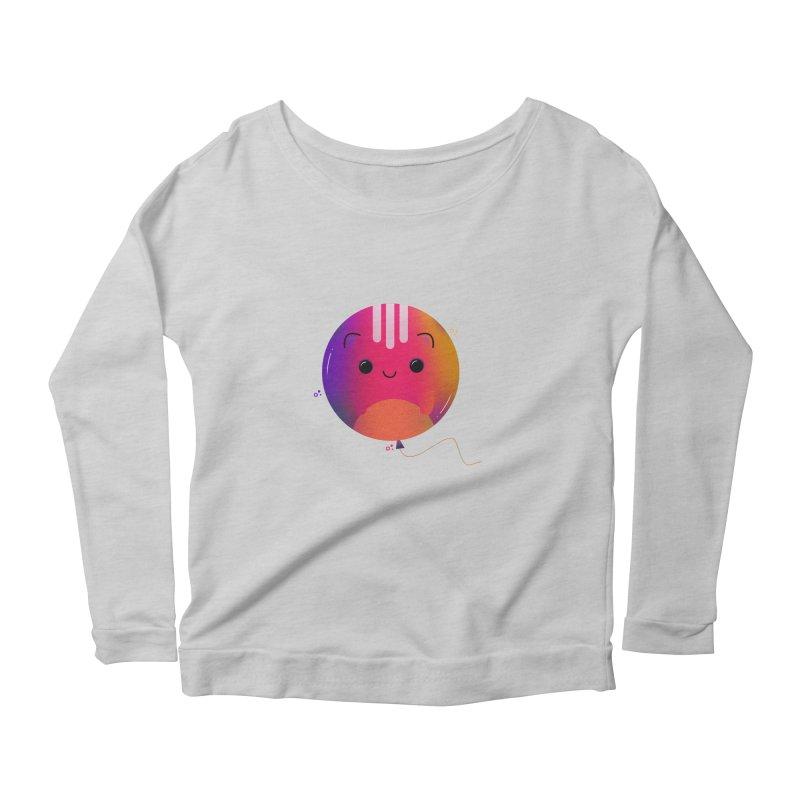 Cat Balloon Women's Scoop Neck Longsleeve T-Shirt by theladyernestember's Artist Shop