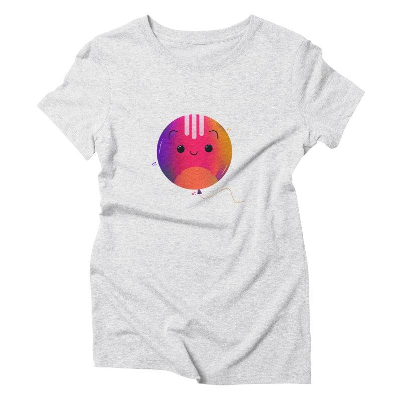 Cat Balloon Women's T-Shirt by theladyernestember's Artist Shop