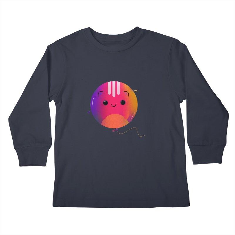 Cat Balloon Kids Longsleeve T-Shirt by theladyernestember's Artist Shop